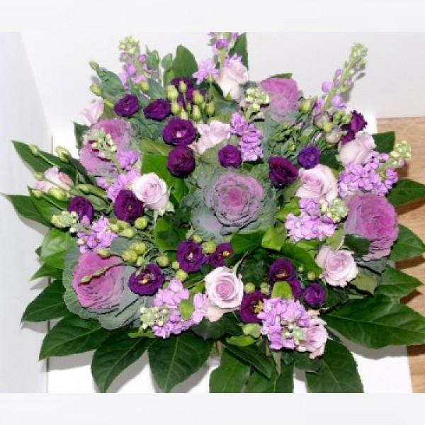 Boeket roze/paars