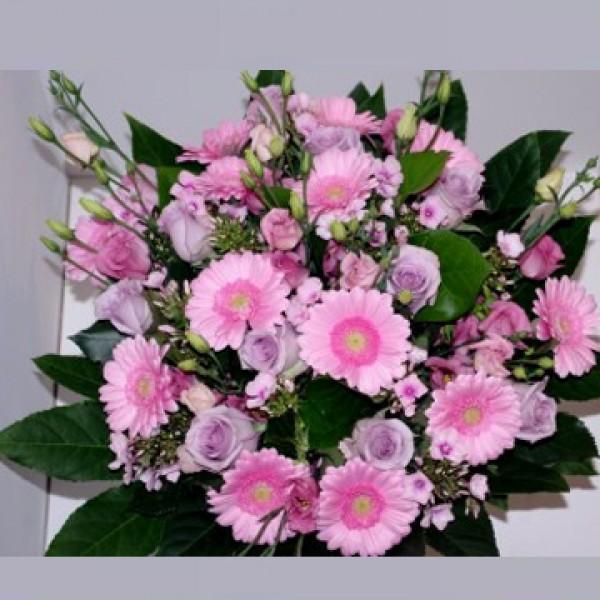Boeket roze gemengd